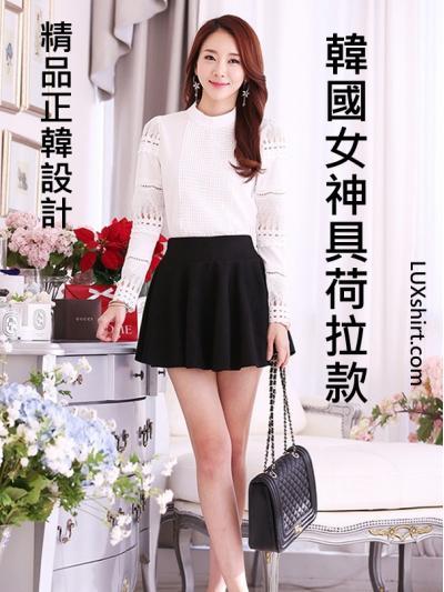 韓國女神具荷拉款 蕾絲拼接雪紡立領上衣 (限量供應)cpshirt 36