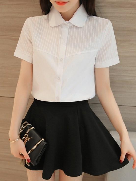 OL短袖襯衫