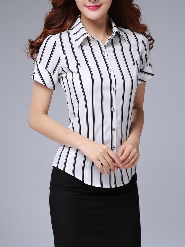 OL,短袖,上衣,襯衫