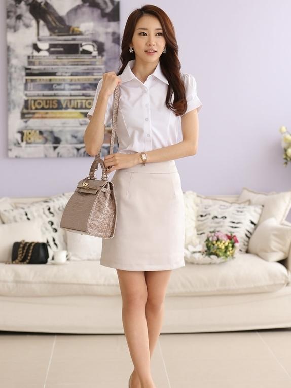 白襯衫,白襯衫女,短袖,面試服裝