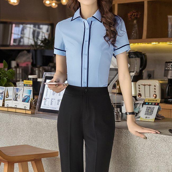 女,上班族,短袖,免燙襯衫,ol襯衫