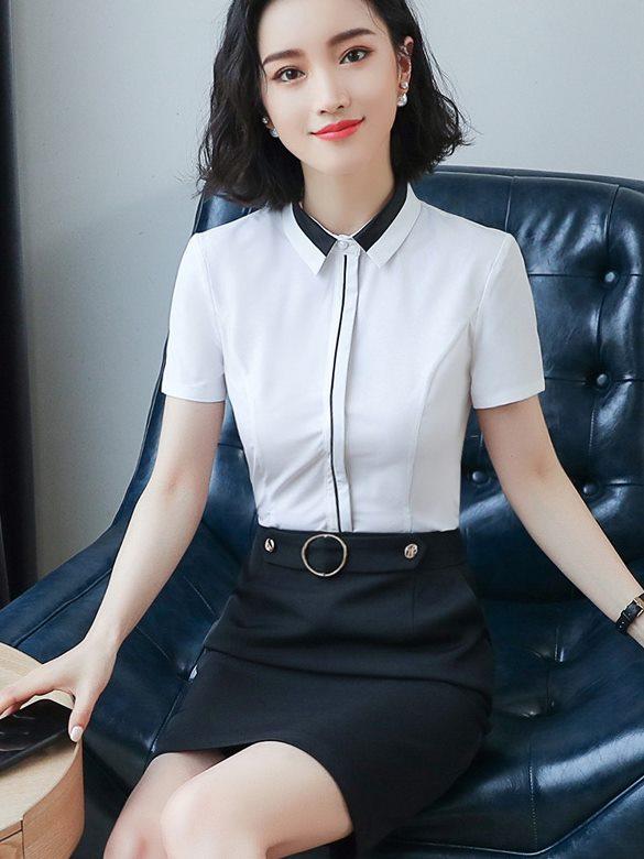 女白襯衫,工作服 ,女裝,服飾 , OL套裝