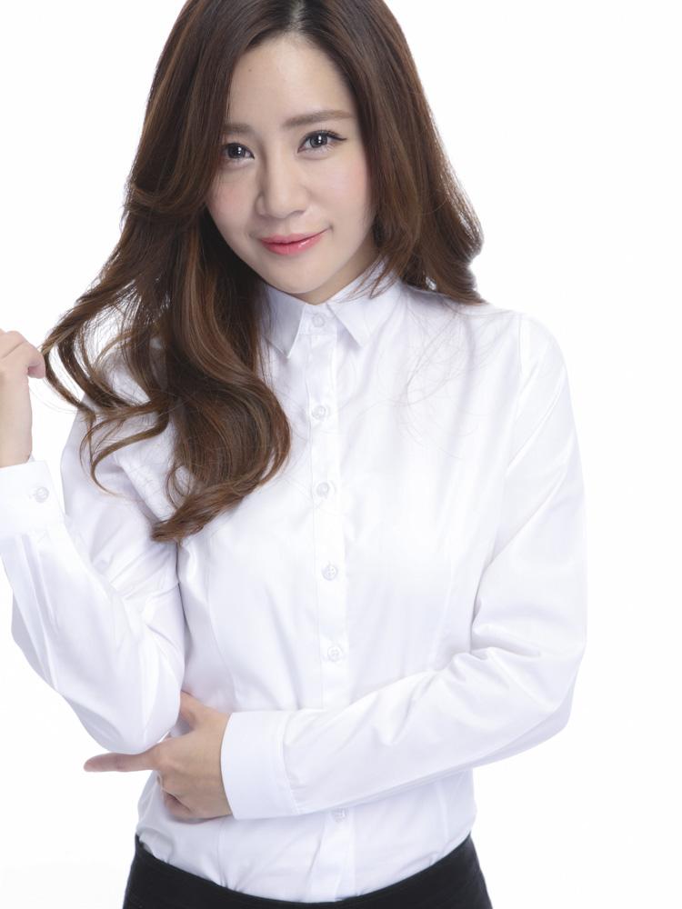 白襯衫,OL,女白襯衫,套裝,面試服裝,素面襯衫,白襯衫女