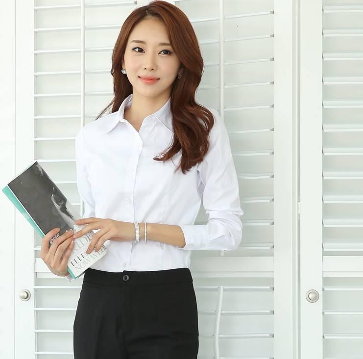 白襯衫女 OL襯衫 素面襯衫 大尺碼  襯衫