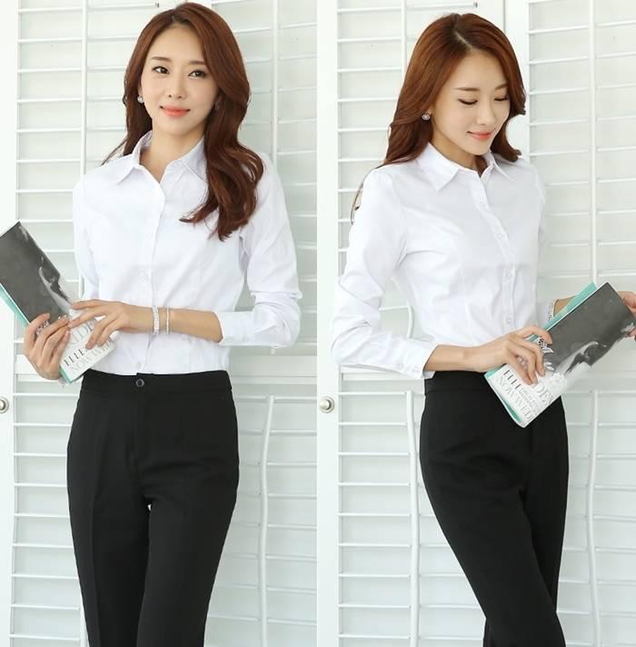大尺碼  女白襯衫 OL襯衫