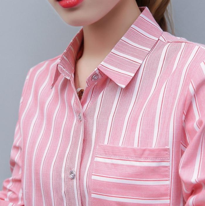 粉色襯衫女  OL襯衫