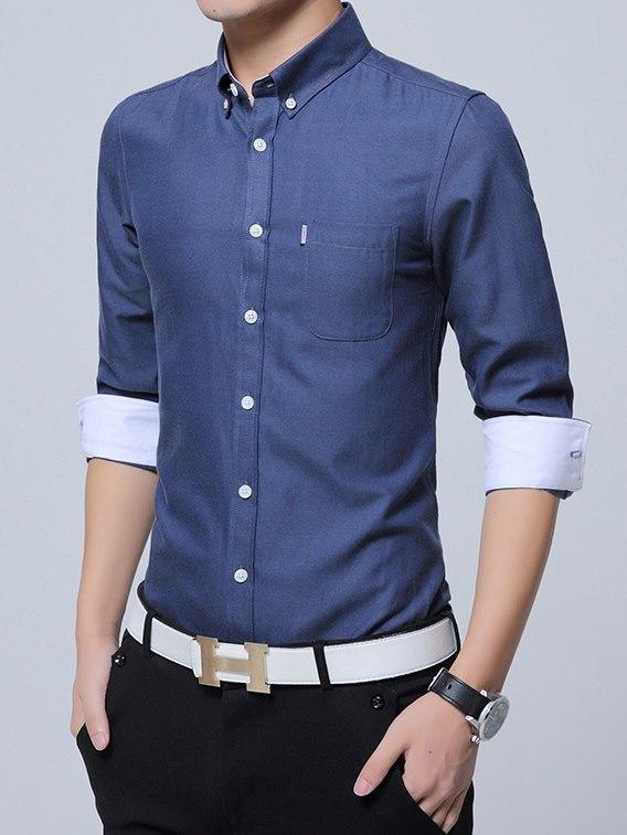 韓版,男,襯衫,商務