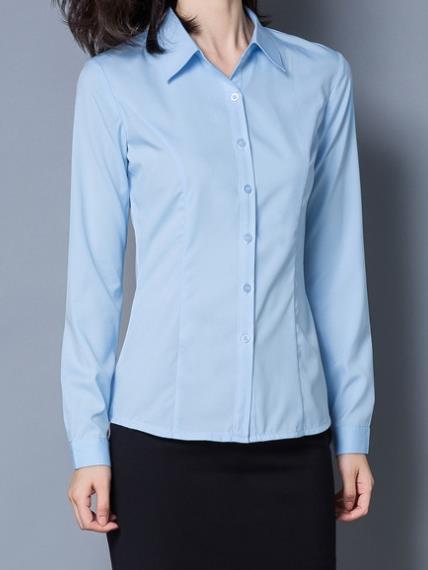 藍襯衫女 ,面試服裝 ,OL襯衫, OL套裝