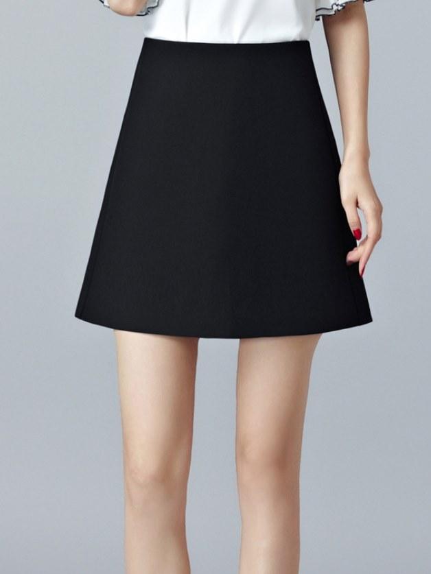 a字裙,短裙,女,ol